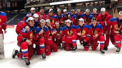 Опубликовано видео ликования юниорской сборной России после победы на Кубке вызова