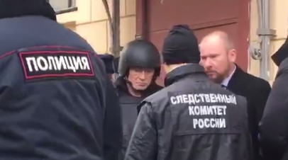 В Санкт-Петербурге на набережной реки Мойки прошёл следственный эксперимент с участием историка Соколова — видео