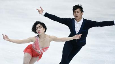 Китайские фигуристы установили мировой рекорд среди спортивных пар в короткой программе