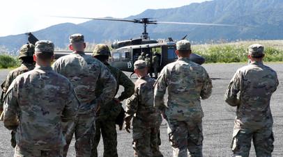 Солдаты армии США во время учений в Японии