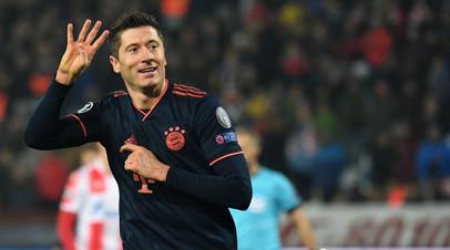 Левандовски признан лучшим футболистом недели в Лиге чемпионов