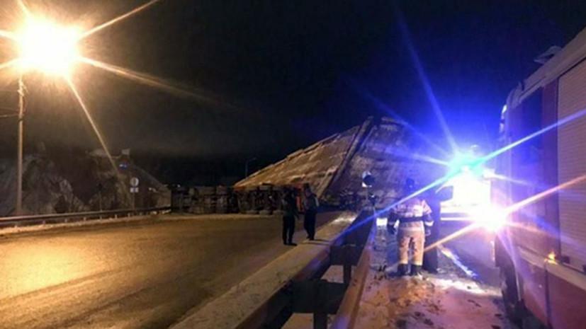 Власти назвали причину обрушения моста в Оренбургской области