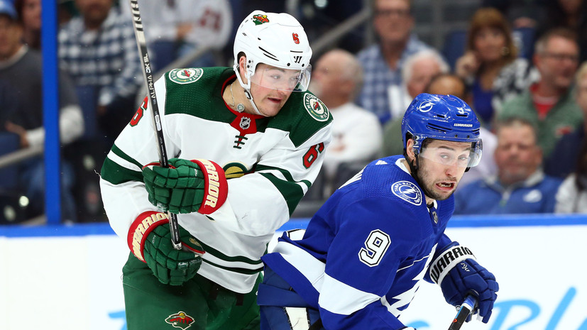 Шайба Сергачёва и передача Кучерова не спасли «Тампу» от проигрыша «Миннесоте» в НХЛ