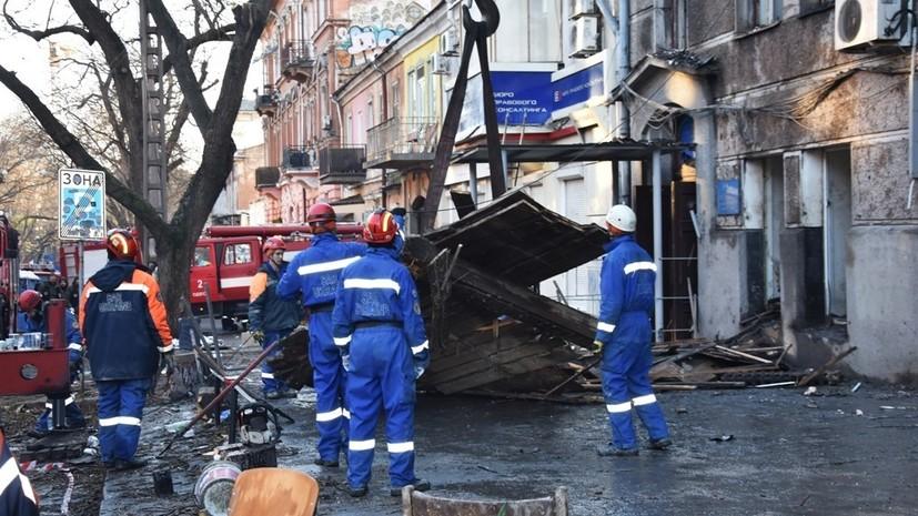 Число погибших при пожаре в одесском колледже возросло до трёх