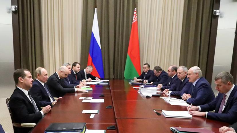Переговоры Путина и Лукашенко в Сочи завершились