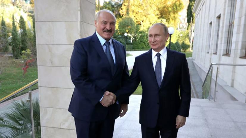 Путин поздравил Лукашенко с 20-летием Договора о Союзном государстве