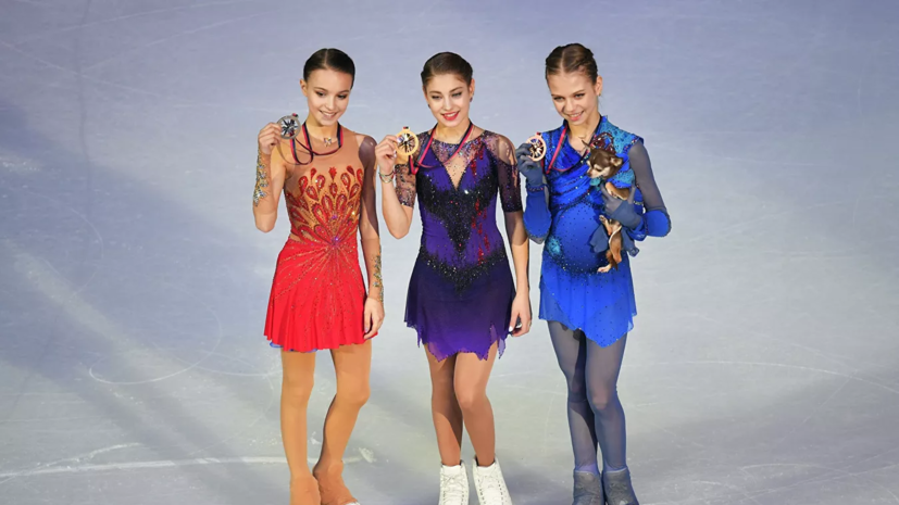 Навка поздравила российских фигуристок с медалями финала Гран-при