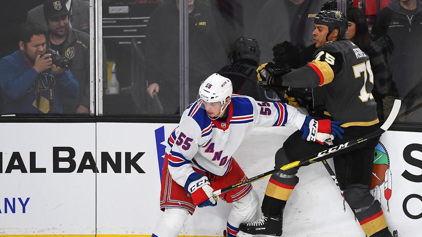 Два очка Панарина и 38 сейвов Георгиева помогли «Рейнджерс» разгромить «Вегас» в НХЛ