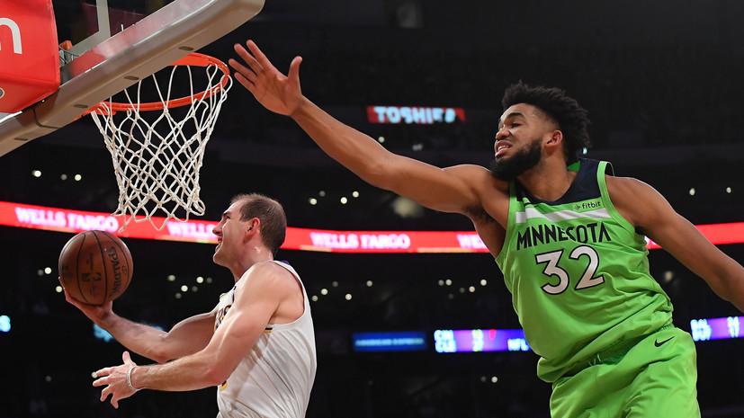 «Лейкерс» обыграл «Миннесоту» в НБА, Дэвис набрал 50 очков
