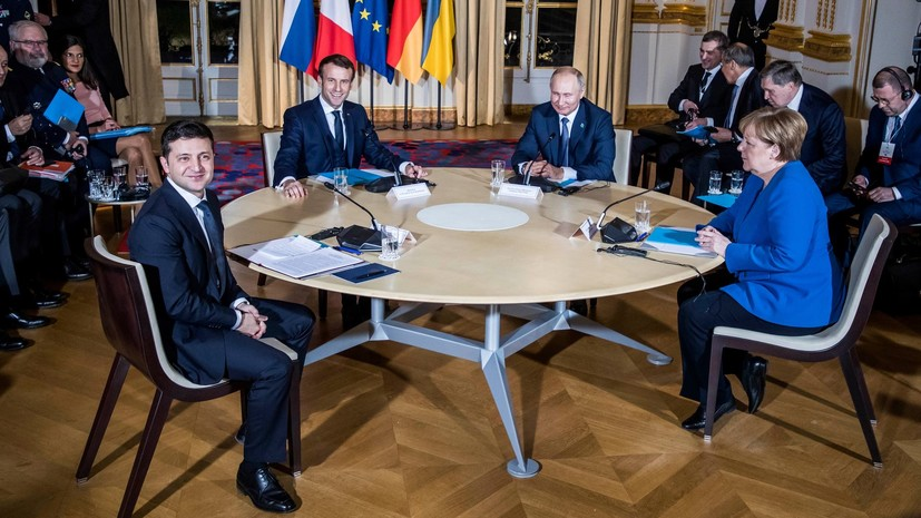 Путин и Зеленский обменялись рукопожатиями