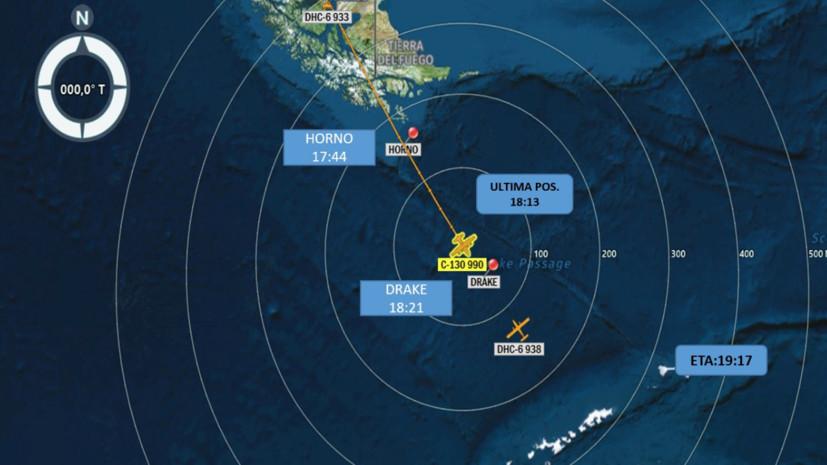 Самолёт ВВС Чили с 38 людьми на борту объявлен пропавшим