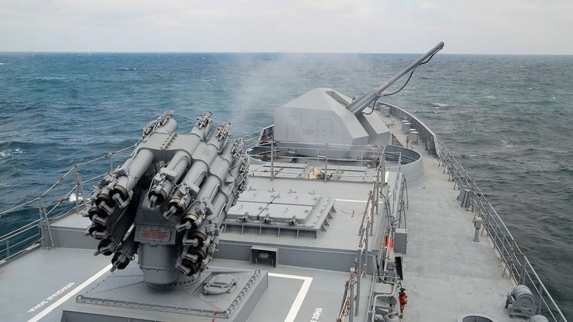 Фрегат «Адмирал Эссен» выполнил стрельбы в Чёрном море