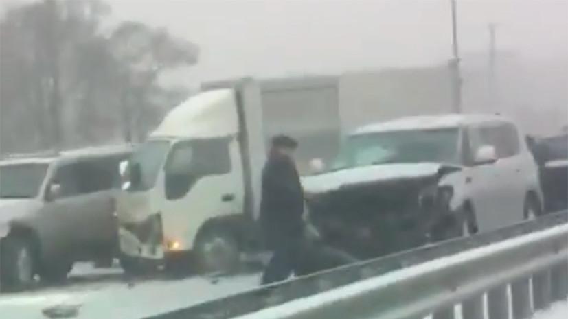 Участниками ДТП в Приморье стали 48 автомобилей