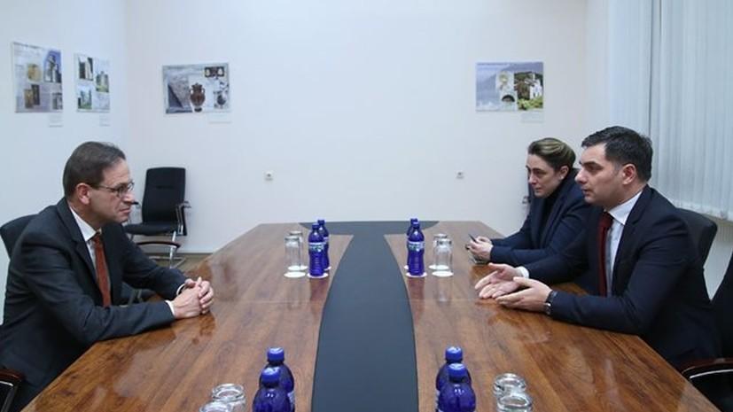 Посол ФРГ и замглавы МИД Грузии обсудили дело об убийстве Хангошвили