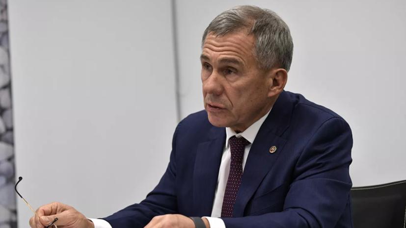 Президент Татарстана прибыл в Минск с рабочим визитом