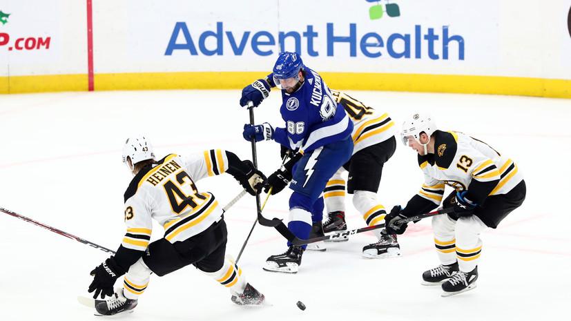 Две передачи Кучерова помогли «Тампе» победить «Бостон» в матче НХЛ