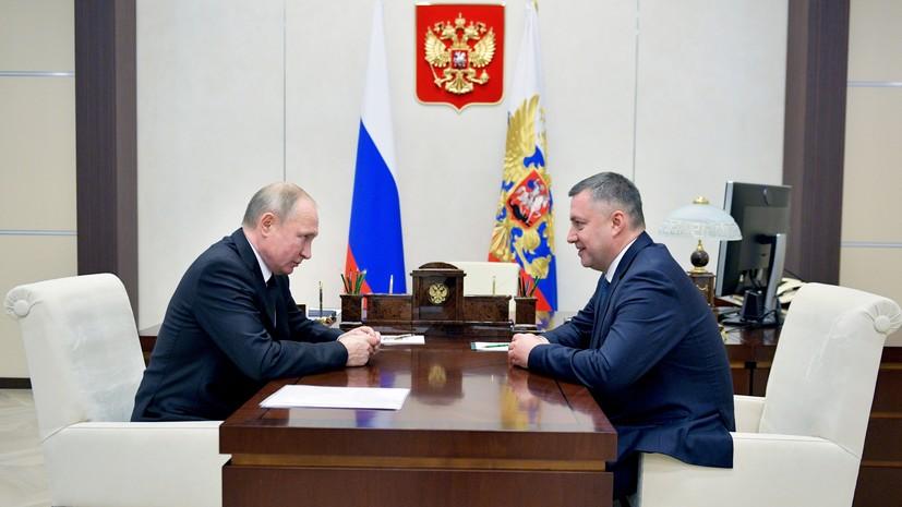 Путин присвоил врио главы Иркутской области звание генерал-полковника