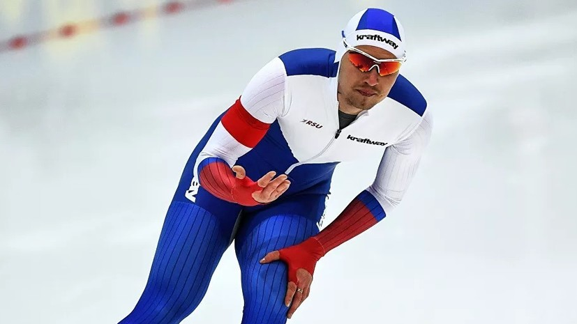 Конькобежец Кулижников завоевал золото на 1000 м на этапе КМ в Нагано