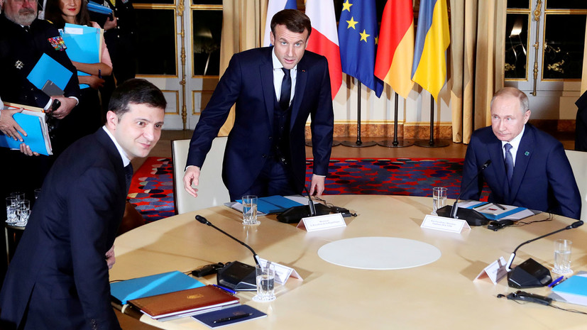 «Путин и Зеленский используют разную терминологию»: Песков рассказал подробности встречи «нормандской четвёрки»