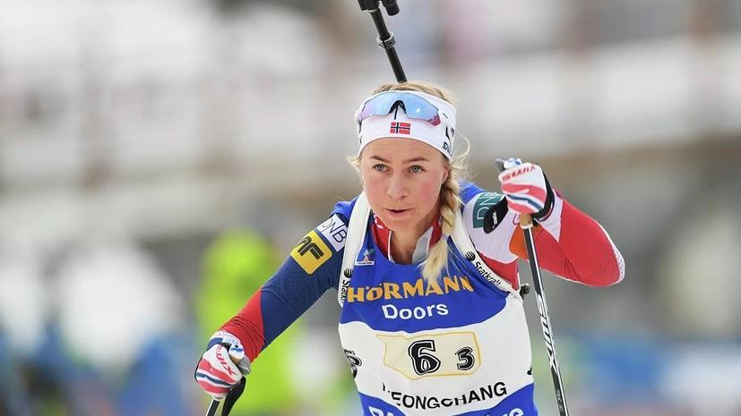 Норвежка Экхофф победила в пасьюте на этапе КМ по биатлону в Австрии, Миронова — 11-я