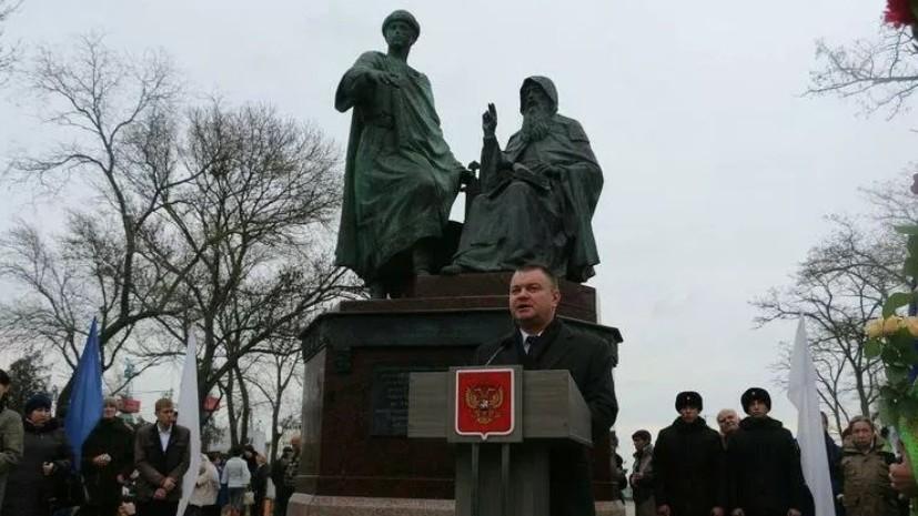 В Керчи открылипамятник единству и неделимости Крыма и России