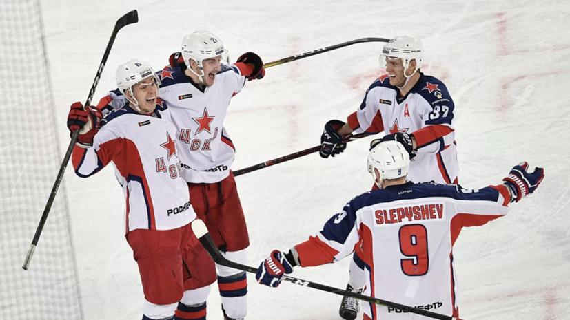 ЦСКА с минимальным счётом переиграл СКА в матче КХЛ на футбольном стадионе
