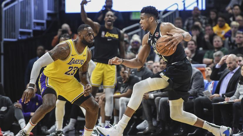 Трипл-дабл Джеймса не спас «Лейкерс» от поражения в матче НБА с «Милуоки»