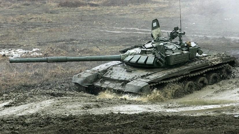 Военнослужащие ЧФ приняли участие в первом этапе «Танкового биатлона»