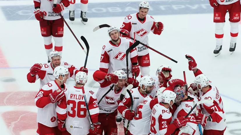 «Спартак» в ОТ одолел «Сочи» в матче КХЛ, уступая по ходу встречи 0:3