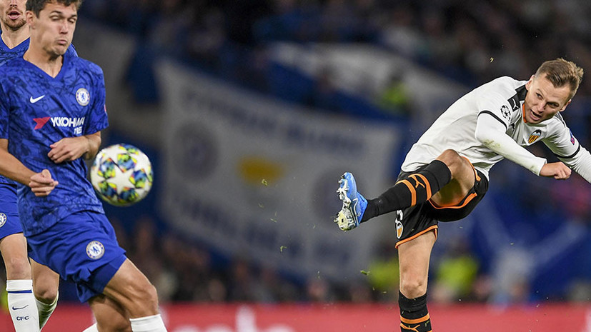 «Валенсия» показала гол Черышева пяткой на тренировке