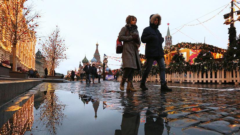 В Москве 21 декабря ожидается до +3 °С