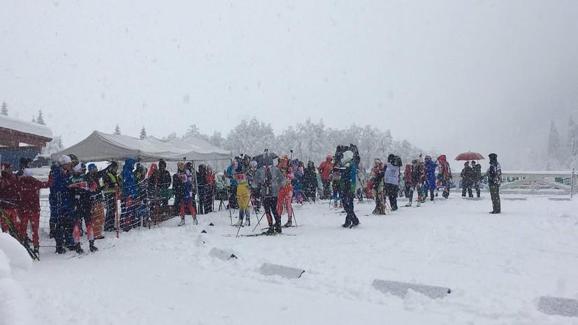 Смешанная эстафета на этапе Кубка IBU в Обертиллиахе отменена