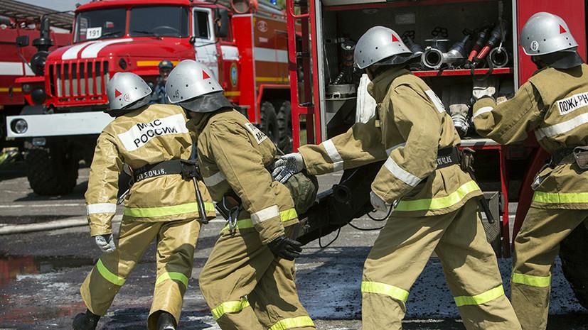 В Уфе произошёл пожар в производственном здании
