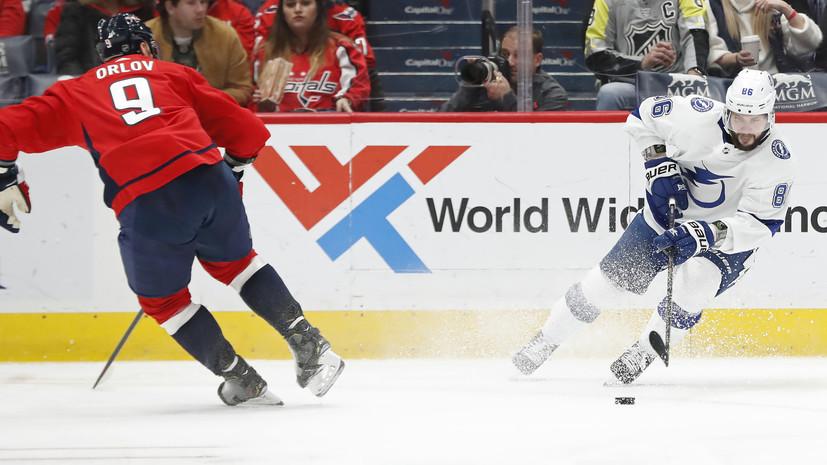 Шайба Орлова с передачи Кузнецова помогла «Вашингтону» обыграть «Тампу» в матче НХЛ