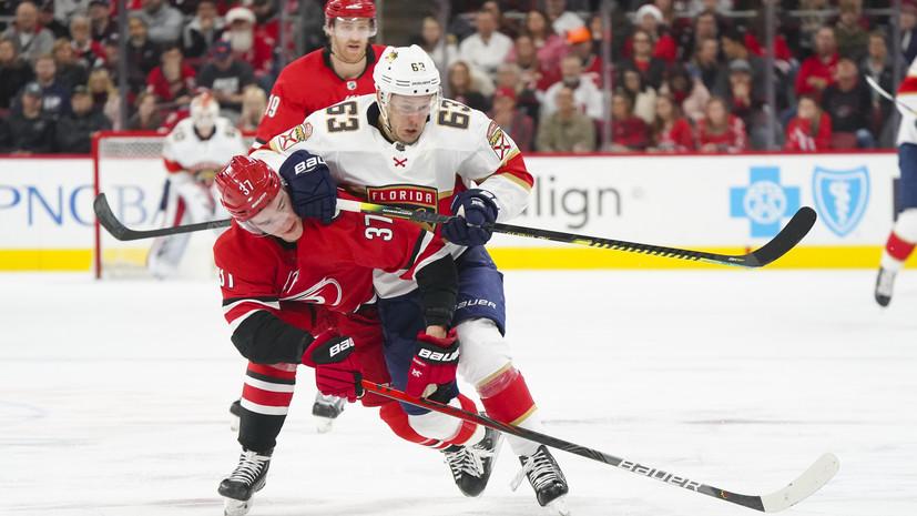 Шайба Дадонова помогла «Флориде» обыграть «Каролину» в матче НХЛ