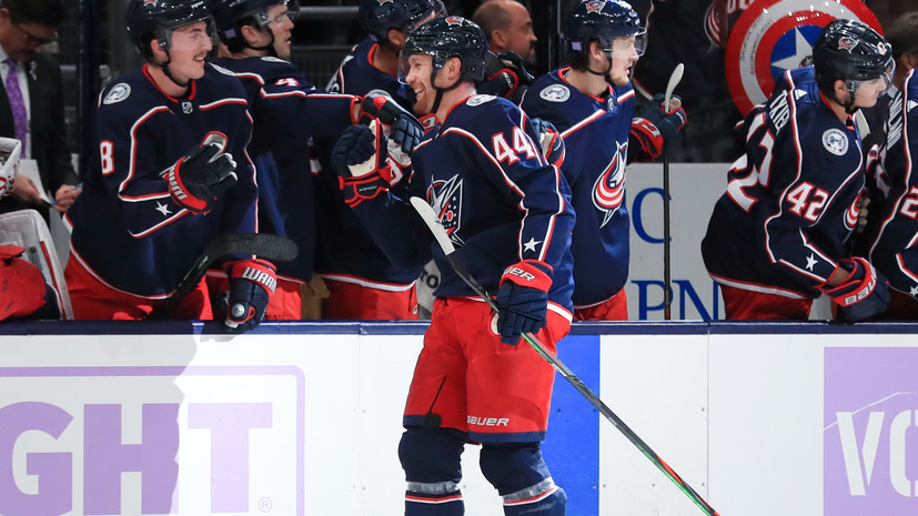 Гол Гаврикова помог «Коламбусу» разгромить «Нью-Джерси» в НХЛ