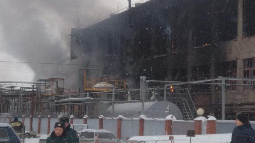 Пожар в производственном здании в Уфе локализован