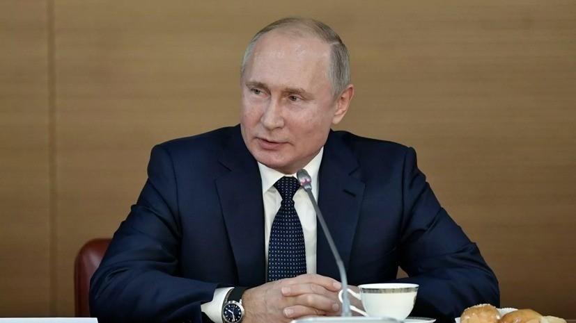 Путин пошутил над полпредом в ЮФО из-за палки колбасы