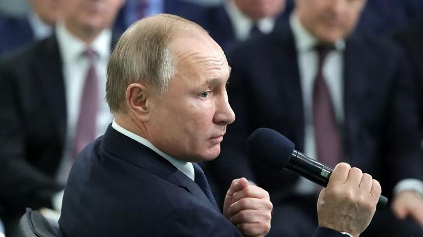 Путин назвал безобразной ситуацию с бюрократическими помехами бизнесу