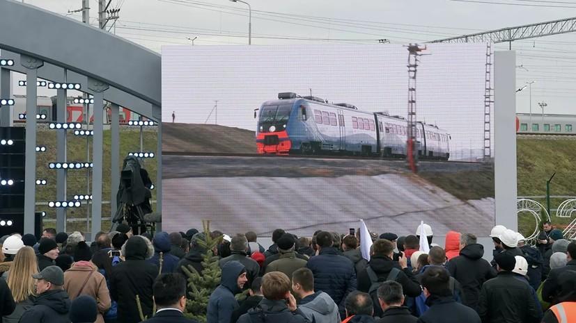 МИД Украины выразил протест из-за запуска ж/д части Крымского моста
