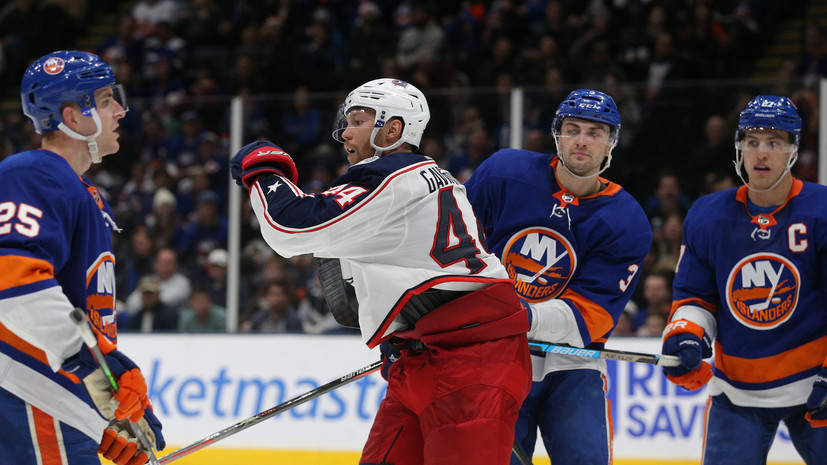 Шайба Гаврикова принесла «Коламбусу» победу над «Айлендерс» в матче НХЛ