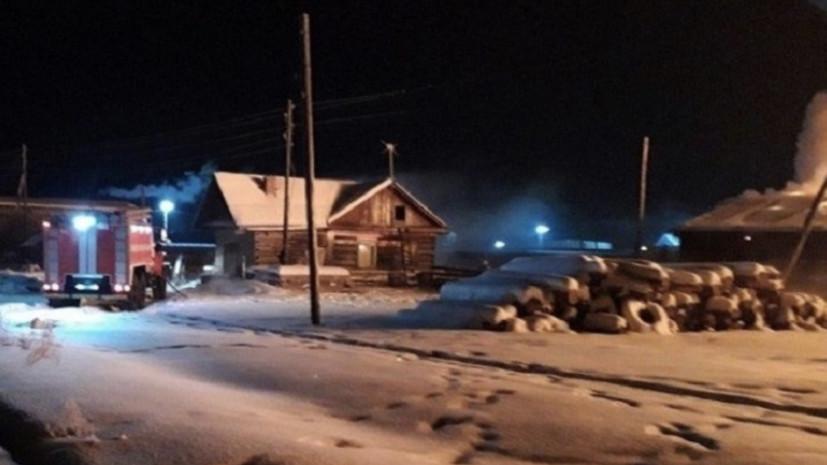 При пожаре в общежитии в Иркутской области погиб человек