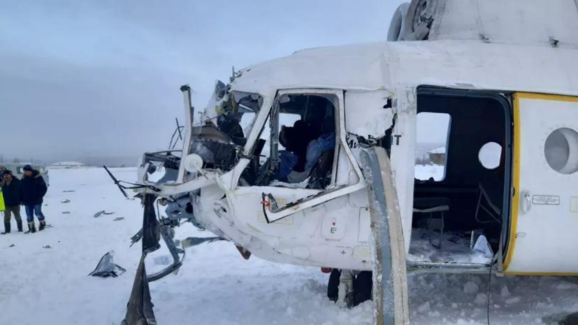 Число пострадавших при жёсткой посадке Ми-8 увеличилось до 16