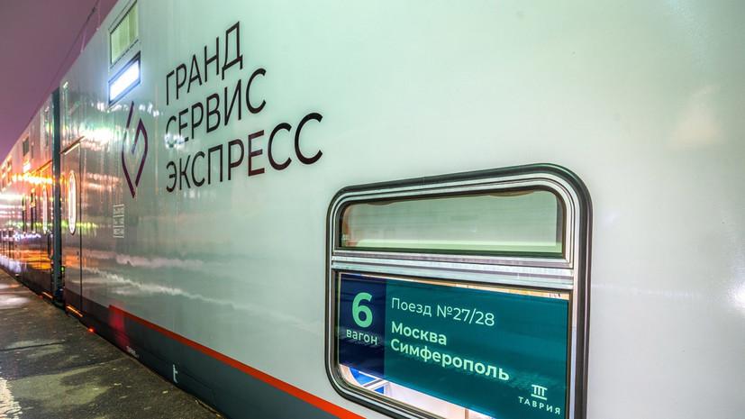 Первый поезд из Москвы прибыл в Симферополь