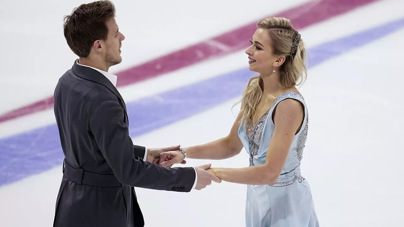 Синицина и Кацалапов победили в ритм-танце на ЧР по фигурному катанию