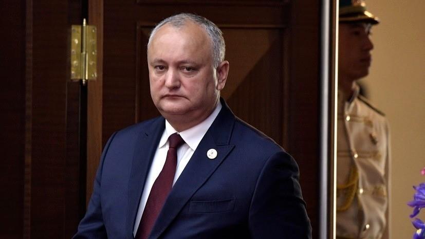 Додон предложил провести выборы президента 8 ноября 2020 года