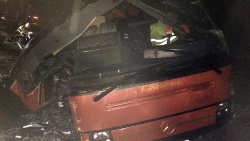 После аварии с автобусом в Липецкой области возбуждено уголовное дело
