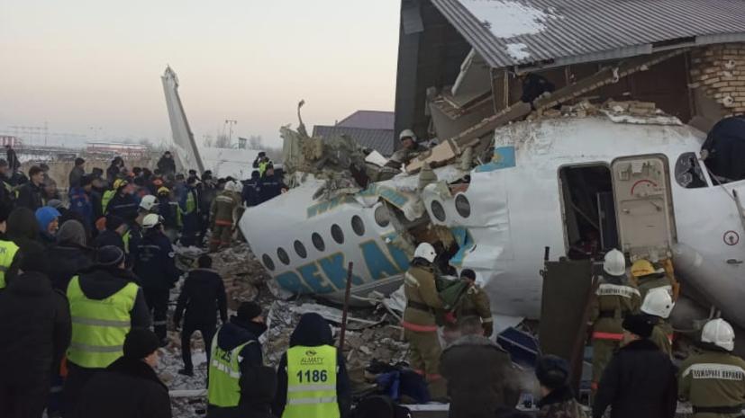 «При взлёте потерял высоту и пробил бетонное ограждение»: в Казахстане разбился пассажирский самолёт