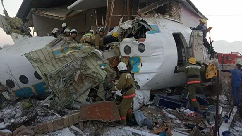 МВД Казахстана начало расследование авиакатастрофы в Алма-Ате