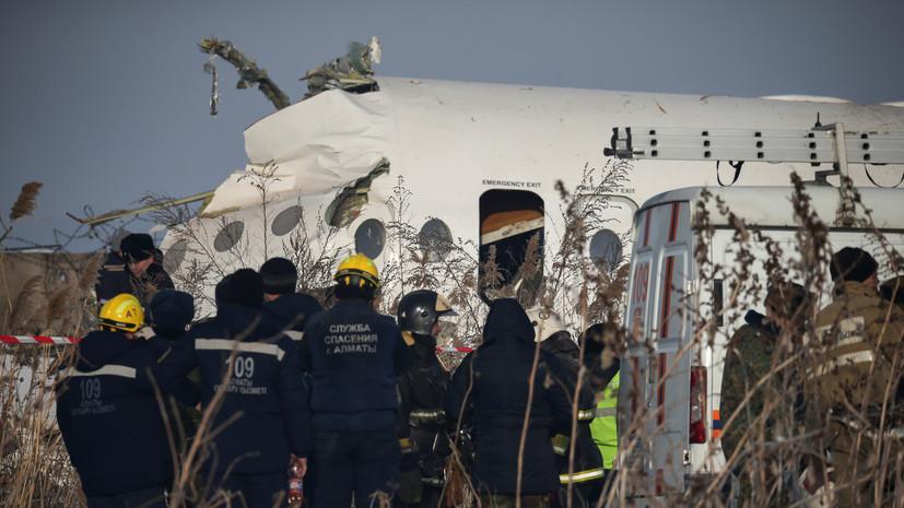 Путин направил Токаеву соболезнования в связи с крушением самолёта